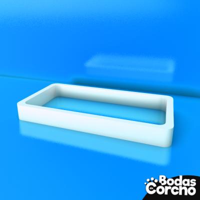 Bandeja con forma rectangular